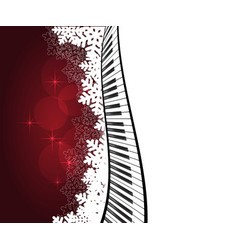 red template with piano vector image vector image