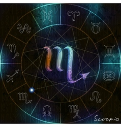 Scorpio astrological symbol vector