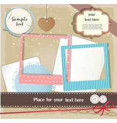 Scrapbook elements vector image vector image