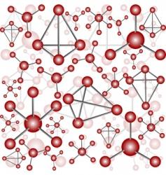 seamless molecules vector image