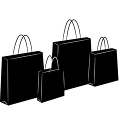shopping bags silhouettes vector image vector image