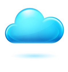 Single cumulus cloud on white background vector