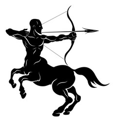 Stylised centaur archer vector