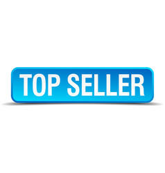 Top seller blue 3d realistic square isolated vector image
