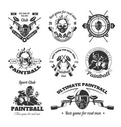 Ultimate paintball sport club for real men vector