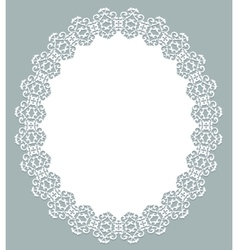 White lace napkin vector