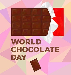World chocolate day vector