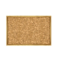 Corkboard with wooden frame vector