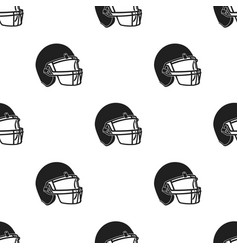 helmet icon black single sport icon from the big vector image