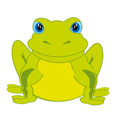 Cartoon animal frog vector