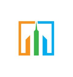 Skyscraper building logo image vector