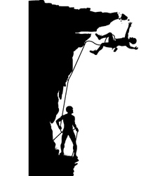 Climber fall vector image