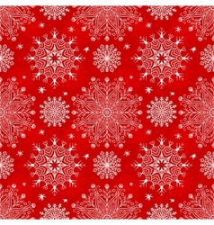 Merry christmas red seamless pattern vector