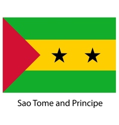 Flag of the country sao tome and principe vector image