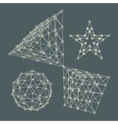 3D Molecule structure background Graphic design vector image