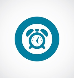 Alarm clock icon bold blue circle border vector