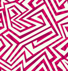 Red tribal seamless pattern vector