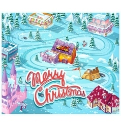 Merry christmas gui - map playing field vector