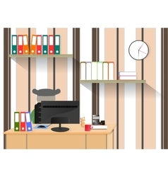 on the theme of workplace computer vector image