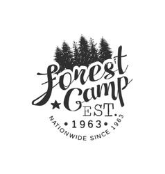 Nationwide Forest Camp Vintage Emblem vector image