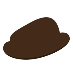 Classic brown hat vector
