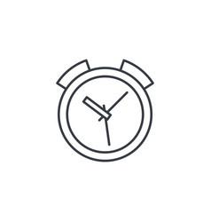 Alarm clock thin line icon linear symbol vector