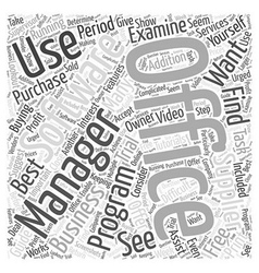 An office management software buying guide word vector