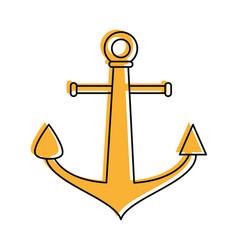 Anchor navy icon image vector