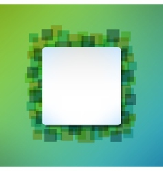 Banner message frame on abstract squared vector image