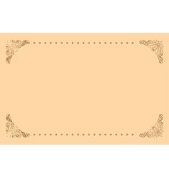 beige background with vintage frame vector image