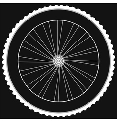 Bike wheel - isolated on black background vector image