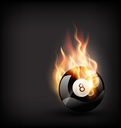 Burning pool ball vector