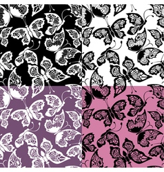 Butterflies seamless 380 vector