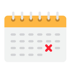 calendar flat icon time and date reminder vector image vector image