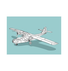 Catalina wireframe vector