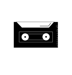 contour cassette to listen and play music vector image