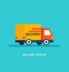 Delivery service delivery by car or track vector