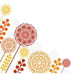 floral patterns and mandalas vector image vector image