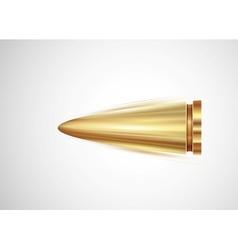 Flying bullet vector image vector image