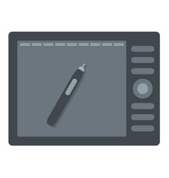 Graphics tablet icon isolated vector