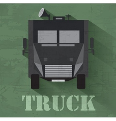 Grunge military war car icon background concept vector