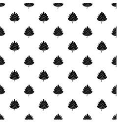 Hawthorn leaf pattern vector