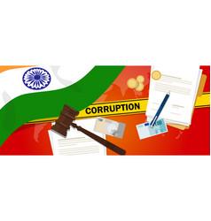India fights corruption money bribery financial vector