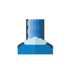 Isolated waterfall flat icon cascade vector