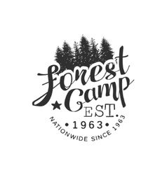 Nationwide Forest Camp Vintage Emblem vector image