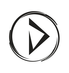 Play sign icon vector