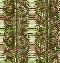 Snake skin texture seamless pattern black on white vector
