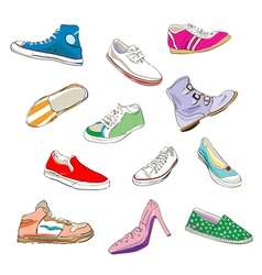 sneaker sketches vector image