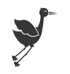 stork flying isolated icon design vector image