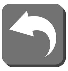 Undo rounded square icon vector